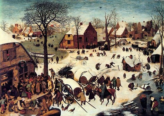 Bruegel the Elder, Pieter: The Census at Bethlehem. Religious Fine Art Print/Poster. Sizes: A4/A3/A2/A1 (002004)